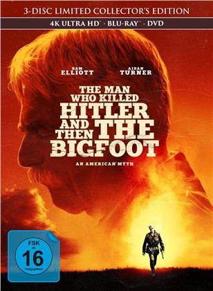 The Man Who Killed Hitler and Then The Bigfoot (2018) (Collector's Edition, Limited Edition, Mediabook, 4K Ultra HD + Blu-ray + DVD)