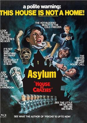 Asylum (1972) (Cover E, Limited Edition, Mediabook, Uncut, Blu-ray + DVD)