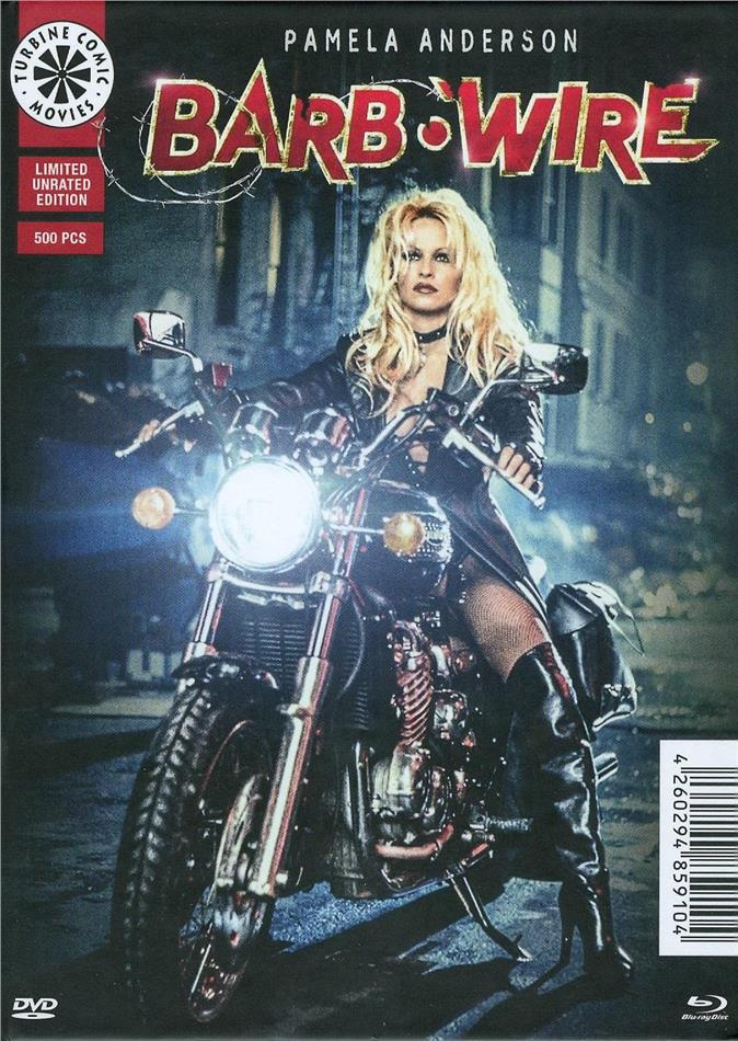 Barb Wire (1996) (Cover C, Limited Edition, Langfassung, Mediabook, Unrated, Blu-ray + DVD)