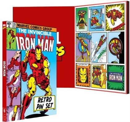 Marvel Avengers - Iron Man Retro Pin Set