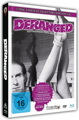 Deranged - Geständnisse eines Nekrophilen (1974) (Cover A, Limited Collector's Edition, Mediabook, Blu-ray + DVD)