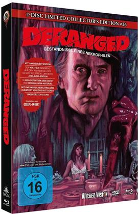 Deranged - Geständnisse eines Nekrophilen (1974) (Cover B, Limited Collector's Edition, Mediabook, Blu-ray + DVD)