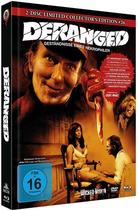 Deranged - Geständnisse eines Nekrophilen (1974) (Cover C, Limited Collector's Edition, Mediabook, Blu-ray + DVD)