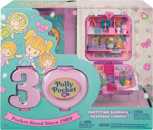 Polly Pocket - Polly Pocket Partytime Surprise Keepsake Compact (Anniversary Edition)