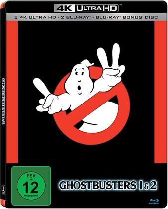 Ghostbusters & Ghostbusters 2 (Limited Edition, Steelbook, 2 4K Ultra HDs + 3 Blu-rays)