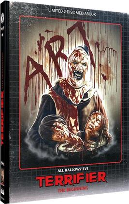 Terrifier - The Beginning (2013) (Cover B, Limited Edition, Mediabook, Blu-ray + DVD)
