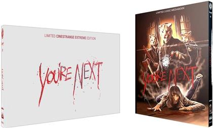 You're Next (2011) (Wattiert, Cover Q, Limited Cinestrange Extreme Edition, Limited Edition, Mediabook, Blu-ray + DVD)