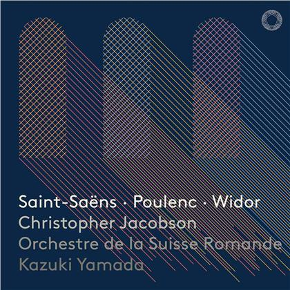 Christopher Jacobson, Kazuki Yamada, Camille Saint-Saëns (1835-1921), Francis Poulenc (1899-1963), Charles-Marie Widor (1844-1937), … - Works For Organ & Orchestra (Hybrid SACD)