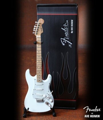 Fender Strat Olympic White Finish Miniature Guitar