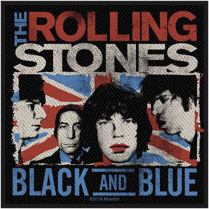 The Rolling Stones Standard Patch - Black & Blue (Retail Pack)