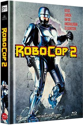 Robocop 2 (1990) (Cover A, Limited Edition, Mediabook, Blu-ray + DVD)