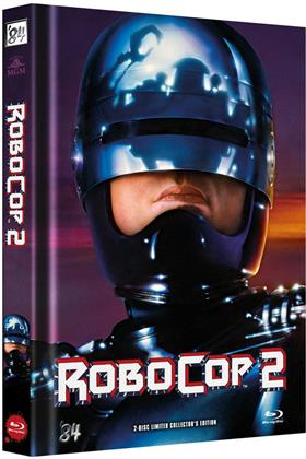 Robocop 2 (1990) (Cover B, Limited Edition, Mediabook, Blu-ray + DVD)