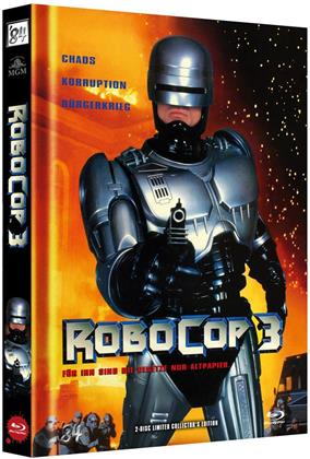 Robocop 3 (1993) (Cover A, Limited Edition, Mediabook, Blu-ray + DVD)