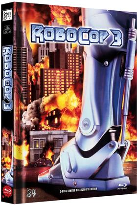 Robocop 3 (1993) (Cover B, Limited Edition, Mediabook, Blu-ray + DVD)