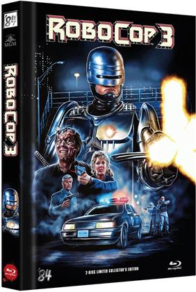 Robocop 3 (1993) (Cover C, Limited Edition, Mediabook, Blu-ray + DVD)