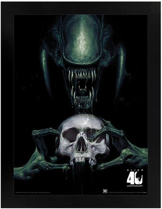 Alien - Vision of Death 40th Anniversary - Black Wooden Framed Poster