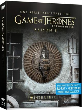 Game of Thrones - Saison 8 - La Saison Finale (Limited Edition, Steelbook, 3 4K Ultra HDs + 3 Blu-rays)