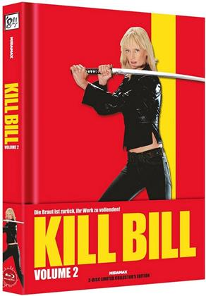 Kill Bill - Vol. 2 (2004) (Wattiert, Cover A, Collector's Edition Limitata, Mediabook, Blu-ray + DVD)