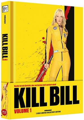 Kill Bill - Vol. 1 (2003) (Wattiert, Cover A, Collector's Edition Limitata, Mediabook, Blu-ray + DVD)