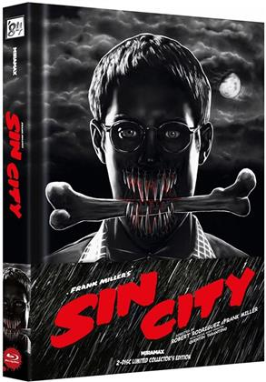 Sin City (2005) (Wattiert, Cover A, Collector's Edition Limitata, Mediabook, Blu-ray + DVD)