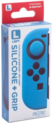 Switch Joy Con Silicone Skin + Grip - Left - Blue