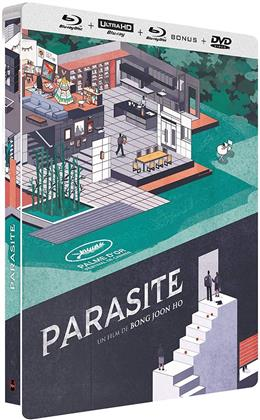 Parasite (2019) (Limited Edition, Steelbook, 4K Ultra HD + 2 Blu-rays + DVD)