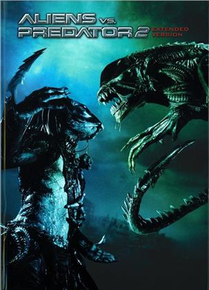 Aliens vs. Predator 2 (2007) (Cover B, Extended Edition, Edizione Limitata, Mediabook, Unrated, Blu-ray + DVD)