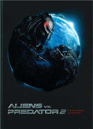 Aliens vs. Predator 2 (2007) (Cover C, Extended Edition, Limited Edition, Mediabook, Unrated, Blu-ray + DVD)