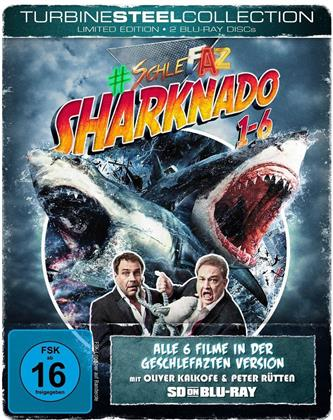 Sharknado 1-6 (Turbine Steel Collection, SD on Bluray, SchleFaZ - Die schlechtesten Filme aller Zeiten, Limited Edition, Steelbook, 2 Blu-rays)