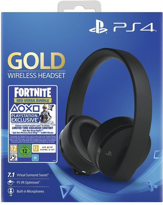 PS4 Headset org. Gold Edition Fortnite Sony 7.1. VR optimiert Neo versa