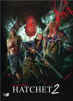 Hatchet 2 (2010) (Cover A, Collector's Edition Limitata, Mediabook, Uncut, Blu-ray + DVD)