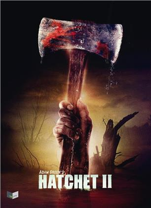 Hatchet 2 (2010) (Cover B, Limited Collector's Edition, Mediabook, Uncut, Blu-ray + DVD)