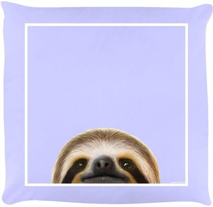 Inquisitive Creatures - Sloth - Lilac Cushion