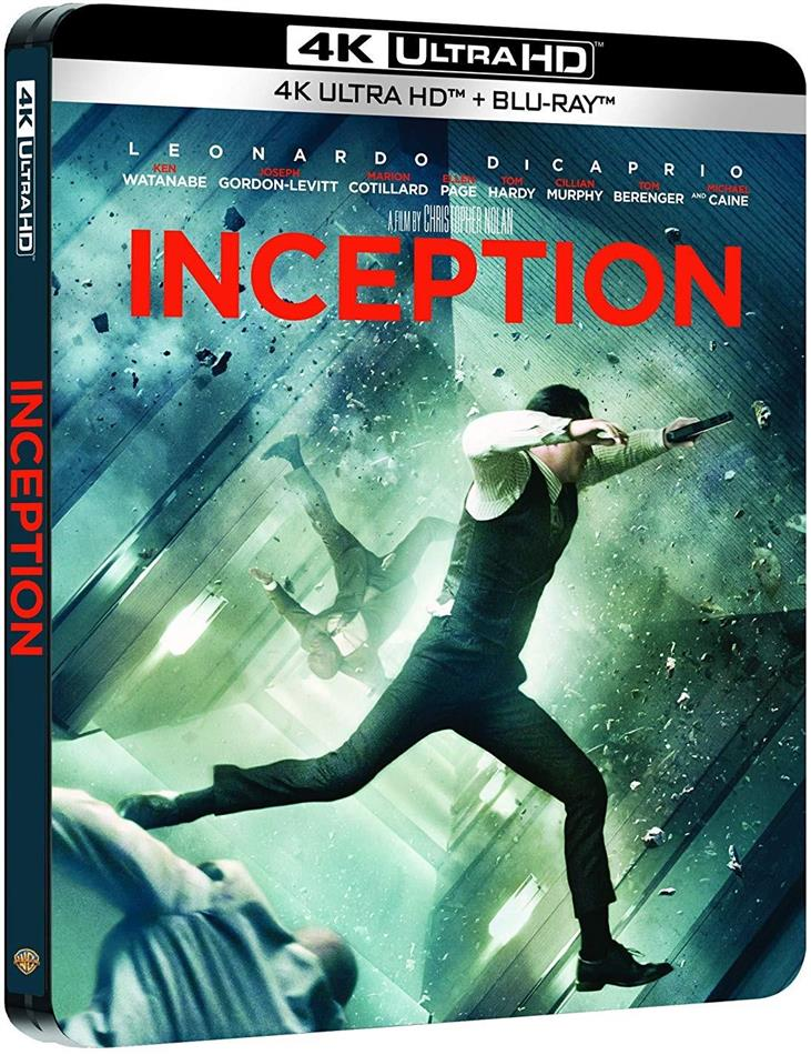 Inception (2010) (Limited Edition, Steelbook, 4K Ultra HD + 2 Blu-rays)