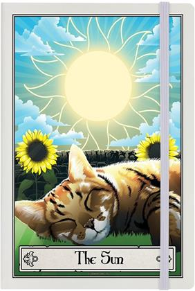 Deadly Tarot Felis - The Sun - Cream A5 Hard Cover Notebook