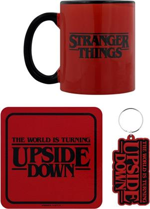 Stranger Things - The World Is Turning Upside Down - Mug, Coaster And Keychain Set