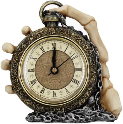 About Time Skeleton Hand Clock Ornament