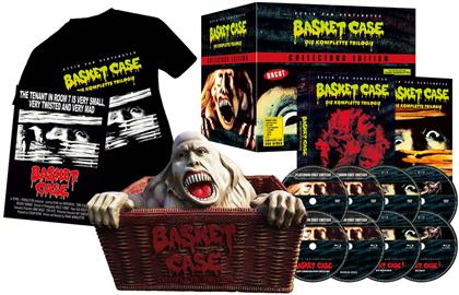 Basket Case 1-3 - Die komplette Trilogie (Complete Edition, con Figurina, Collector's Edition Limitata, Mediabook, Uncut, 4 Blu-ray + 4 DVD)
