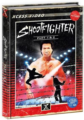 Shootfighter 1+2 (VHS Retro Edition, Limited Edition, Mediabook, 2 Blu-rays + 2 DVDs)