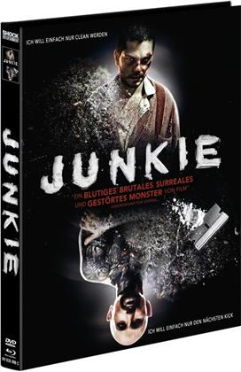 Junkie (2012) (Cover C, Limited Edition, Mediabook, Uncut, Blu-ray + DVD)