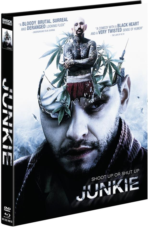 Junkie (2012) (Cover B, Limited Edition, Mediabook, Uncut, Blu-ray + DVD)