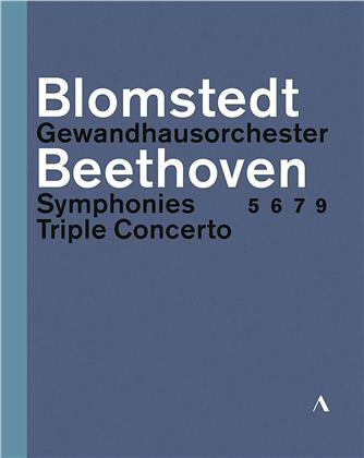 Gewandhaus Orchester Leipzig, Herbert Blomstedt & Isabelle Faust - Beethoven - Symphonies 5, 6, 7, 9 / Triple Concerto (Accentus Music, 3 Blu-ray)