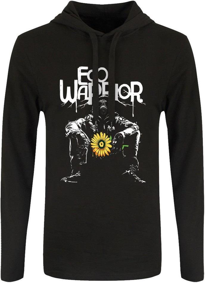 Eco Warrior - Men's Long Sleeved Hooded T-Shirt - Grösse M