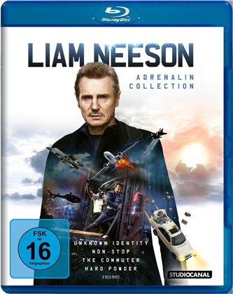 Liam Neeson - Unknown Identity / Non-Stop / The Commuter / Hard Powder (4 Blu-rays)