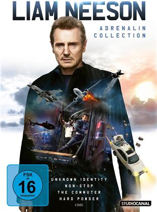 Liam Neeson - Unknown Identity / Non-Stop / The Commuter / Hard Powder (4 DVDs)
