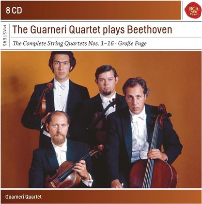 Guarneri Quartet & Ludwig van Beethoven (1770-1827) - The Guarneri Quartet Plays Beethoven (8 CDs)