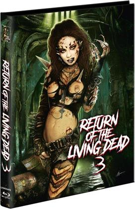 Return of the Living Dead 3 (1993) (Cover B, Limited Edition, Mediabook, Unrated, Blu-ray + 2 DVDs)