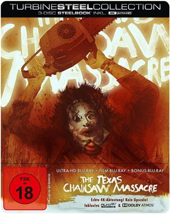 The Texas Chainsaw Massacre (1974) (Turbine Steel Collection, Limited Edition, Steelbook, 4K Ultra HD + 2 Blu-rays)
