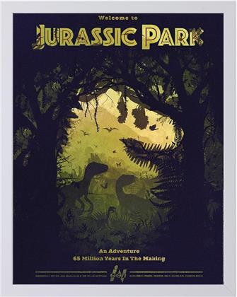 Jurassic Park - Silhouette - Framed Limited Edition Numbered Print