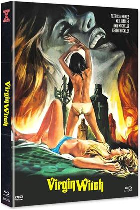 Virgin Witch (1972) (Cover C, Edizione Limitata, Mediabook, Uncut, Blu-ray + DVD)